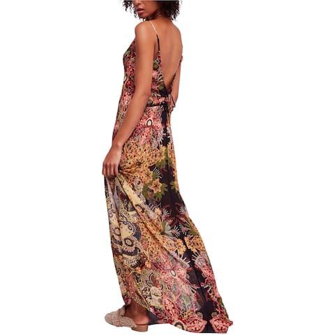 Free People Womens Wildflower Print Maxi Dress, Multicoloured, Small