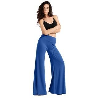NE PEOPLE Womens Comfy High Waist Basic Palazzo Pants S-3XL [NEWP52] (More options available)