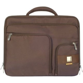 "Urban Factory MDC04UF Urban Factory 23489 Carrying Case (Briefcase) for 14.1"" Notebook - Brown - Nylon - Shoulder Strap,"
