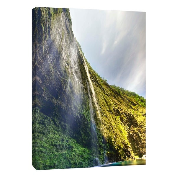 "PTM Images 9-108821 PTM Canvas Collection 10"" x 8"" - ""Hiilawe Falls"" Giclee Waterfalls Art Print on Canvas"