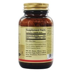 Solgar Biotin 1000 Mcg Vegetable Capsules 250