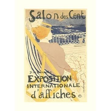 ''Salon des Cent'' by Henri de Toulouse-Lautrec Museum Art Print (27.75 x 20.25 in.)