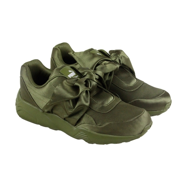 Shop Puma Xo Parallel Mens Green Leather Casual Dress Lace Up Boots ... a2a72050f