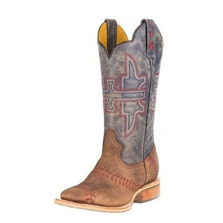 Tin Haul Western Boots Mens Baseball Square Tan 14-020-0007-0282 TA