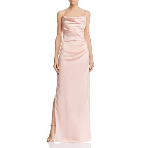 Laundry by Shelli Segal Womens Evening Dress Satin Sleeveless - Blush