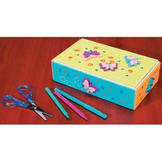 "White Craft School Box-8.625""X2.25"""