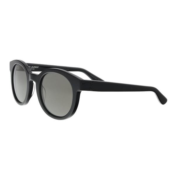 fefc4287e76 Shop Saint Laurent SL M15-001 5 Black Round Sunglasses - 51-24-145 ...
