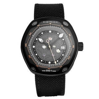 Link to Dietrich Men's DD-1 BLACK 'Device Nr. 1' Black Dial Hexagon Swiss Automatic Watch Similar Items in Men's Watches