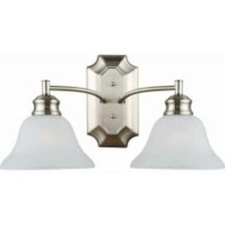 Design House 517086 Bristol 2-Light Wall Mount, Satin Nickel