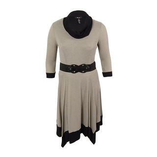 Style & Co. Women's Handkerchief Hem Belted Sweater Dress
