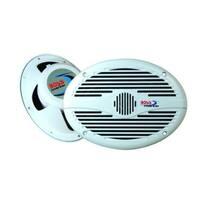 Boss Audio Systems  6 in. x 9 in. 2 Way 350 Watt White Marine Speakers