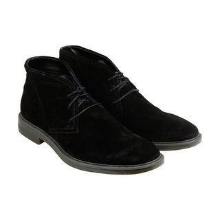 Calvin Klein Ulysses Suede Mens Black Suede Casual Dress Lace Up Boots Shoes