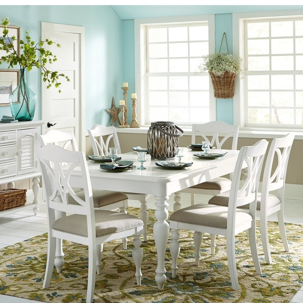 Summer House Oyster White 7-piece Rectangular Table Dining Set. Opens flyout.