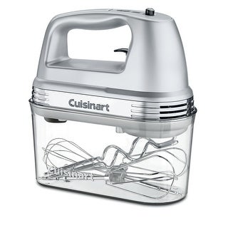 Cuisinart HM-90BCS Power Advantage Plus 9-Speed Handheld Mixer with Storage Case, Brushed Chrome