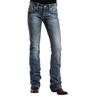 Stetson Western Denim Jean Women 818 Fit Flap Deco 11-054-0818-0402 BU