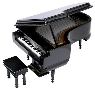 Black Grand Piano Music Box Gift Boxed