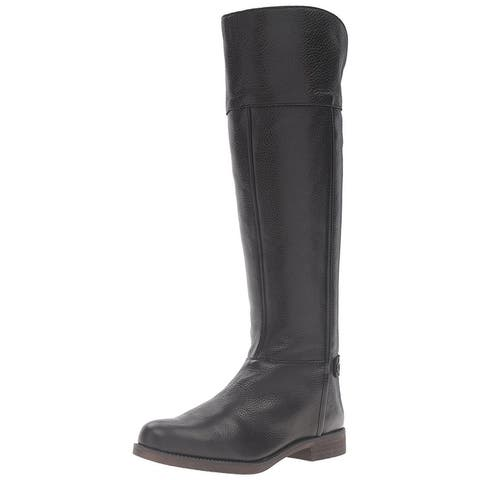 Franco Sarto Womens Kerri Leather Closed Toe Knee High Fashion Boots
