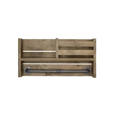 "Furniture Pipeline Cutler Hanging Rack 22"" Shelf Organizer"