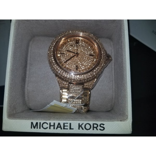 aab6cc3d9694 Shop Michael Kors Women s MK5862  Camille  Rose Gold Glitz Watch - Free  Shipping Today - Overstock - 9193774