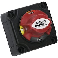 Battery Doctor 20393 Mini Master Disconnect Switch (Dual Battery, 4 Position)