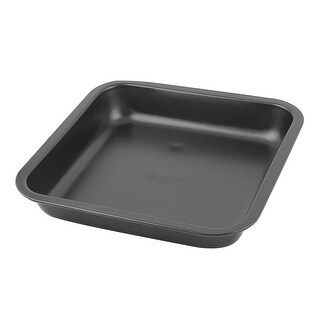 """Bakeware Metal Square Shaped Oven Bread Pizza Baking Mold Pan Tray - Black - 8.5"""" x 8.5"""" x 1.6""""(L*W*H)"""