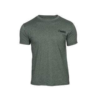 Rocky Outdoor Shirt Mens Short Sleeve Logo Mossy Green LW00121