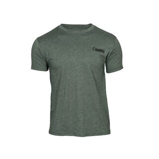 Rocky Outdoor Shirt Mens Short Sleeve Logo Mossy Green LW00121