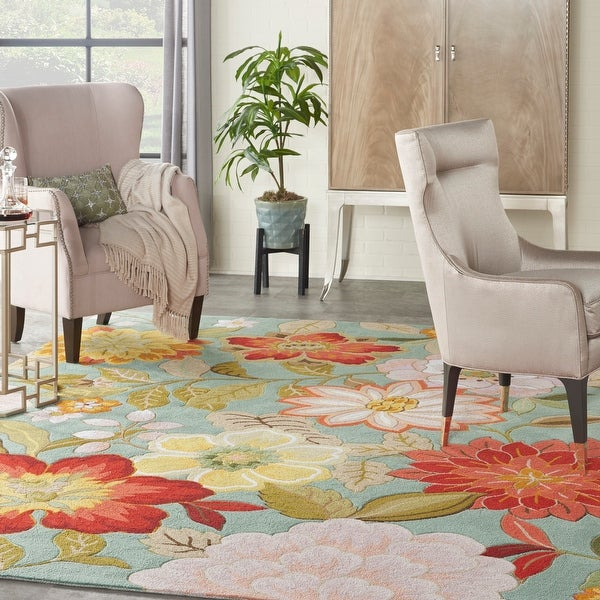 Nourison Fantasy Contemporary Floral Wildflowers Area Rug. Opens flyout.