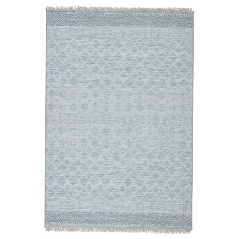 Malalan Indoor/ Outdoor Geometric Grey/ Blue Area Rug by Havenside Home