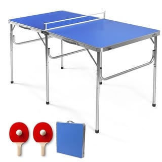Link to Costway 60'' Portable Table Tennis Ping Pong Folding Table Similar Items in Table Games