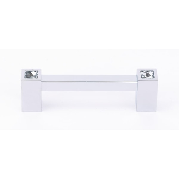 """Alno C718-35 Contemporary Crystal 3-1/2"""" Center to Center Handle Cabinet Pull"""