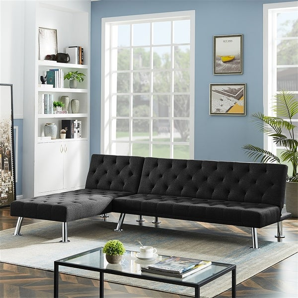 AOOLIVE 2PCS Sectional Recliner Couch, 1 Sofa Bed and 1 Sleepers Couch. Opens flyout.