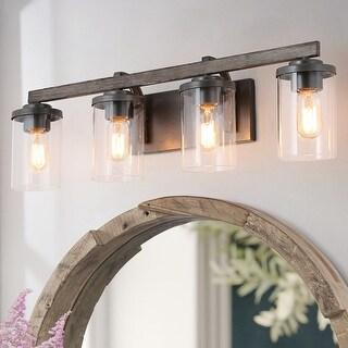 Farmhouse 4-Light Bathroom Vanity Lighting  Wall lights Rustic Wall Sconces