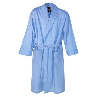 Hanes Men's Lightweight Woven Broadcloth Robe - Black