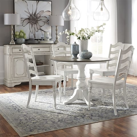 Magnolia Manor Antique White 5-piece Drop Leaf Table Set