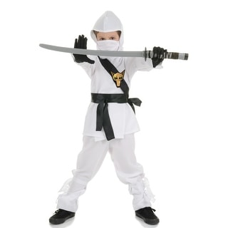 Underwraps Secret Ninja Child Costume (White) - Solid