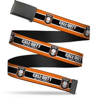 Blank Black Buckle Call Of Duty Black Ops Iii Skull Icon 3 Stripe Web Belt