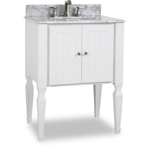 Elements Van059 T Jensen 28 Vanity Set With Wood Cabinet Marble Top And