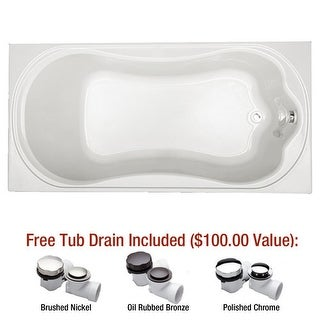 "Mirabelle MIRKWA7236 Key West 72"" X 36"" Drop-In Air Bath Tub with Reversible Dra"