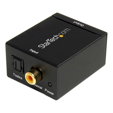 Startech.com spdif2aa convert a digital coax or toslink signal to stereo rca audio - digital coax to t - Black