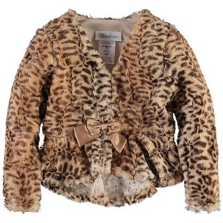 Bonnie Jean Girls 4-6X Faux Fur Shrug Jacket
