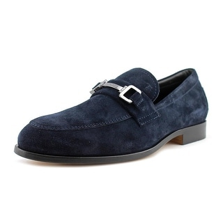 Tod's Morsetto Sella Youth Round Toe Suede Black Loafer