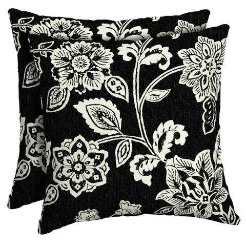 Arden Selections Ashland Jacobean Outdoor Square Pillow 2-Pack - 16 in L x 16 in W x 5 in H