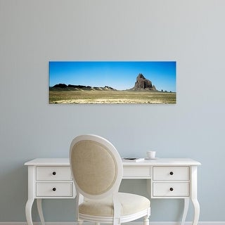 Easy Art Prints Panoramic Image 'Rock formations on an arid landscape, Ship Rock, San Juan, New Mexico' Canvas Art