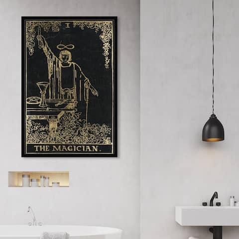 Oliver Gal 'The Magician Tarot' Spiritual and Religious Wall Art Framed Print Zodiac - Black, Gold