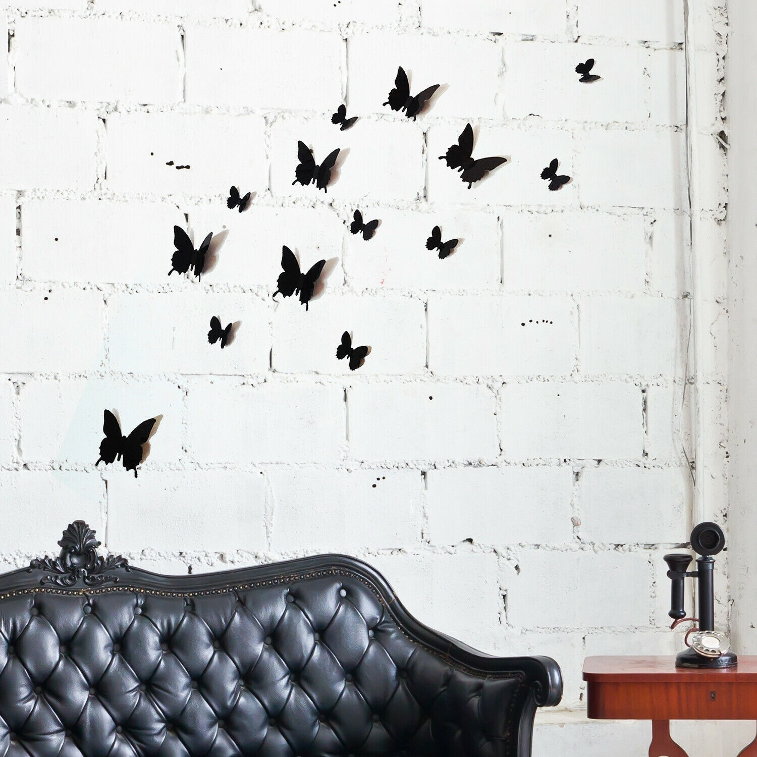 Shop Walplus 3d Black Butterfly Wall Stickers Wall Decorations Diy Art Room Overstock 31769532