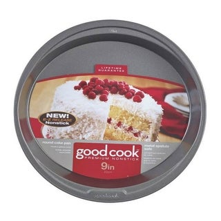"Good Cook 04016 Non-stick Round Cake Pan, 9"""