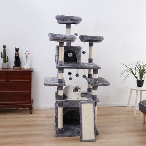 6-Story Luxury Cat House Cat tree - Grey