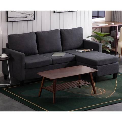Double Chaise Longue Combination Sofa Dark Grey - 8' x 10'