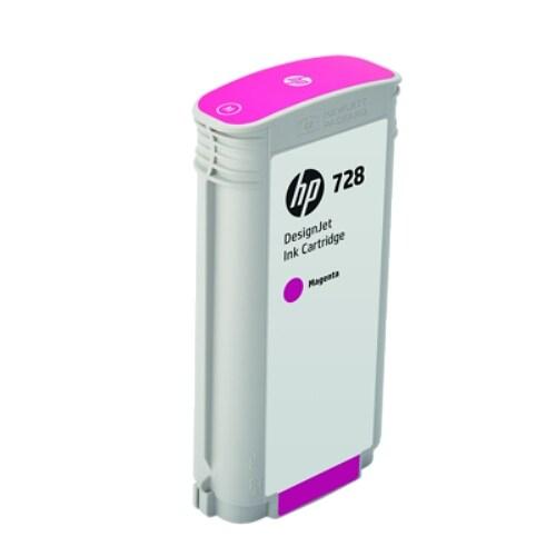 HP 728 130-ml Cyan DesignJet Ink Cartridge (F9J66A)(Single Pack)